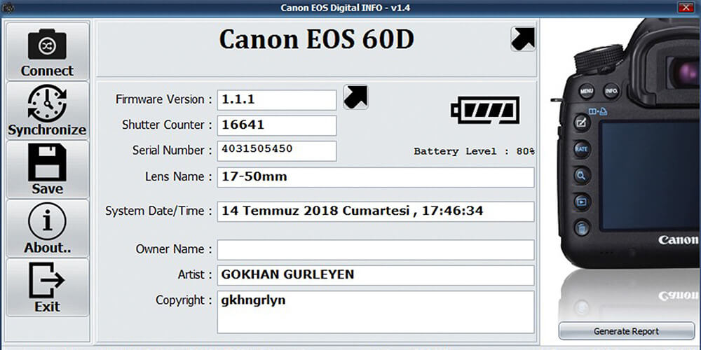 Canon Shutter Sayısı Nasıl Öğrenilir