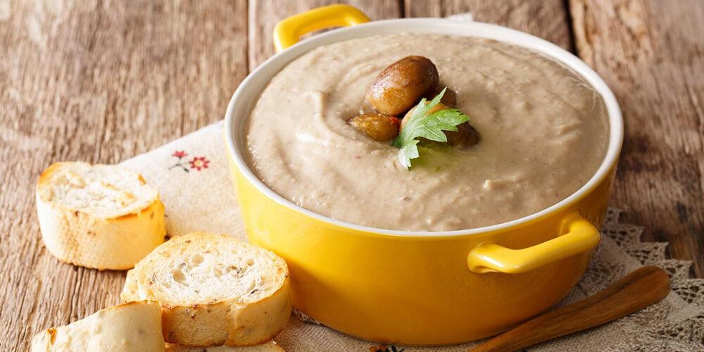 Kremalı Kestane Çorbası