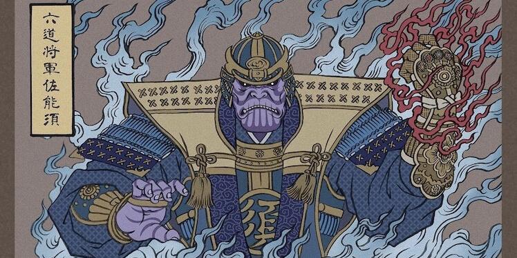 Ukiyo-e Sanatıyla Avengers Karakterleri